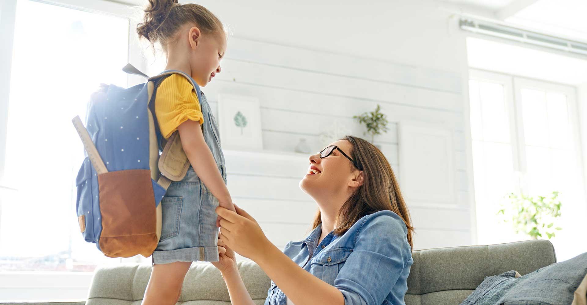 Education positive Maman et fille